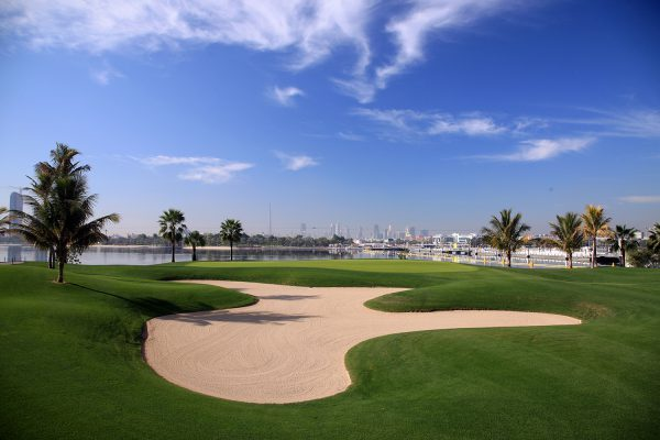 hole at The Dubai Creek Golf Club Golf Club on January 20, 2009 in Dubai, United Arab Emirates